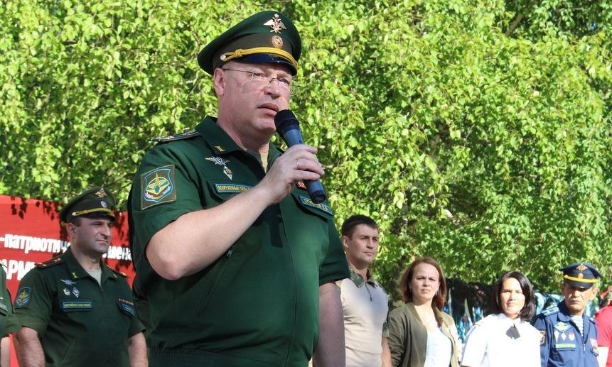 Заместитель начальника космодрома «Плесецк» по работе с личным составом полковник Евгений Сгибнев.